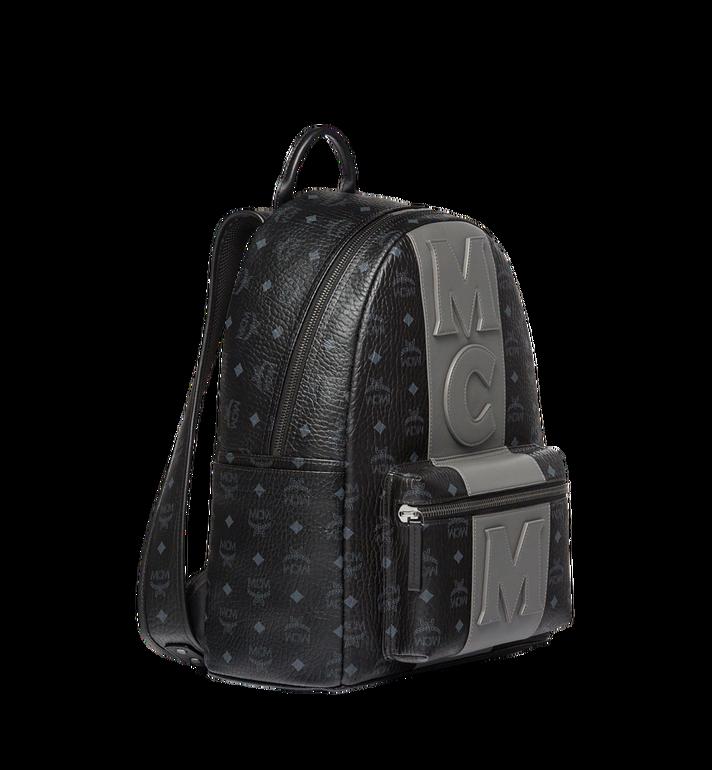 MCM Stark Logo Stripe Backpack in Visetos MMK7AVE27BK001 AlternateView2