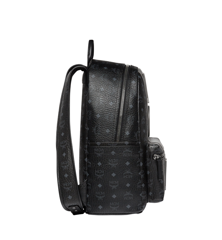 MCM Stark Logo Stripe Backpack in Visetos MMK7AVE27BK001 AlternateView3
