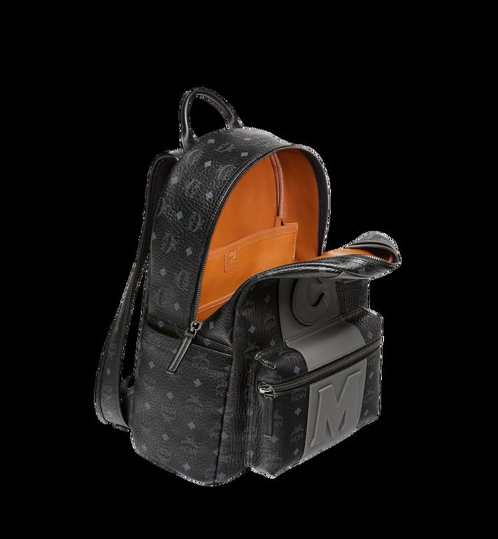 MCM Stark Logo Stripe Backpack in Visetos MMK7AVE27BK001 AlternateView5