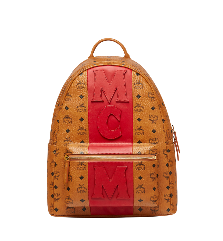 MCM Stark Logo Stripe Backpack in Visetos MMK7AVE27CO001 AlternateView