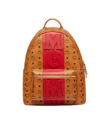 MCM Stark Logo Stripe Backpack in Visetos MMK7AVE27CO001 AlternateView1