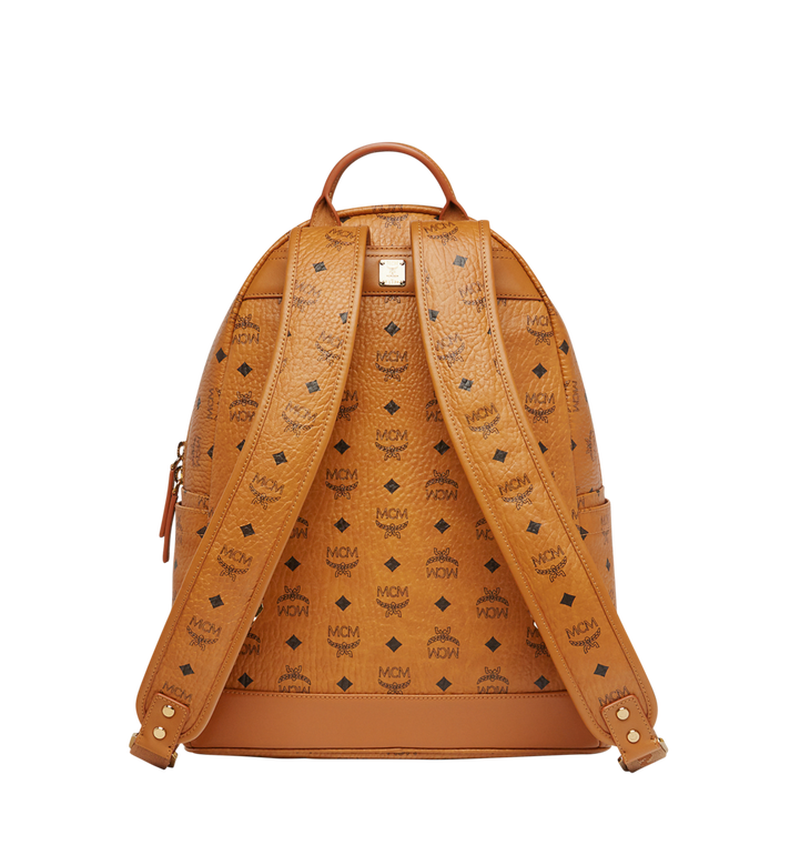 MCM Stark Logo Stripe Backpack in Visetos MMK7AVE27CO001 AlternateView4