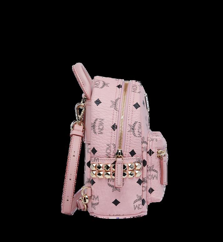 MCM Stark Side Studs Bebe Boo Backpack in Visetos Alternate View 3