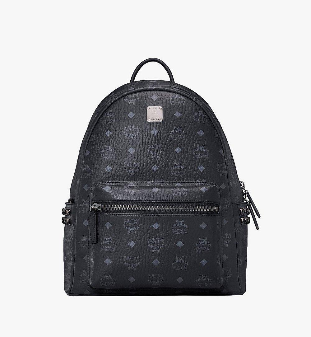MCM Stark Side Studs Backpack in Visetos Black MMK7AVE99BK001 Alternate View 1