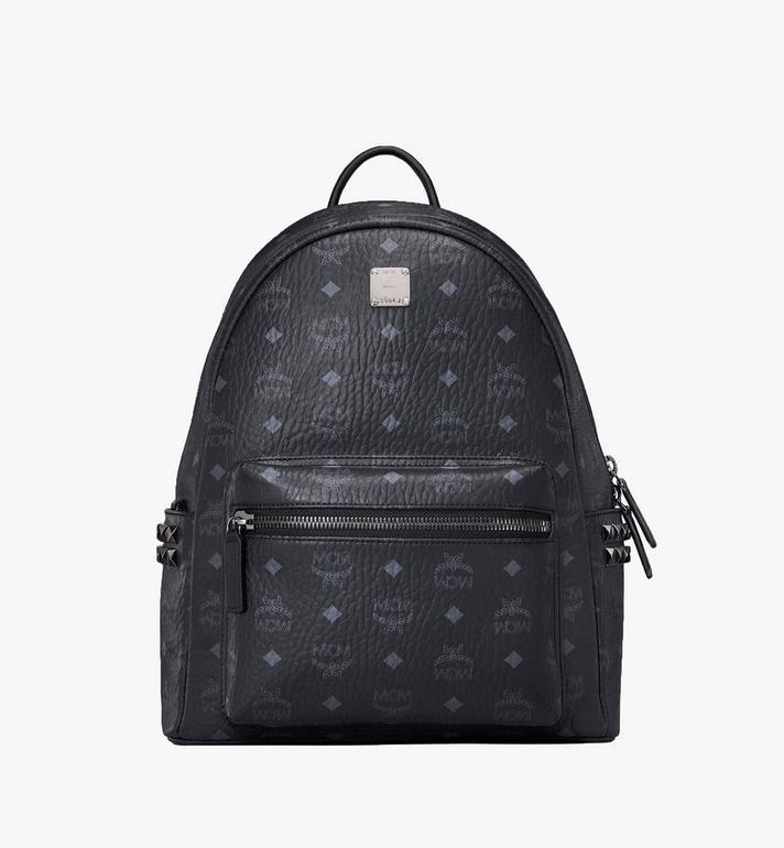 MCM Stark Side Studs Backpack in Visetos MMK7AVE99BK001 AlternateView