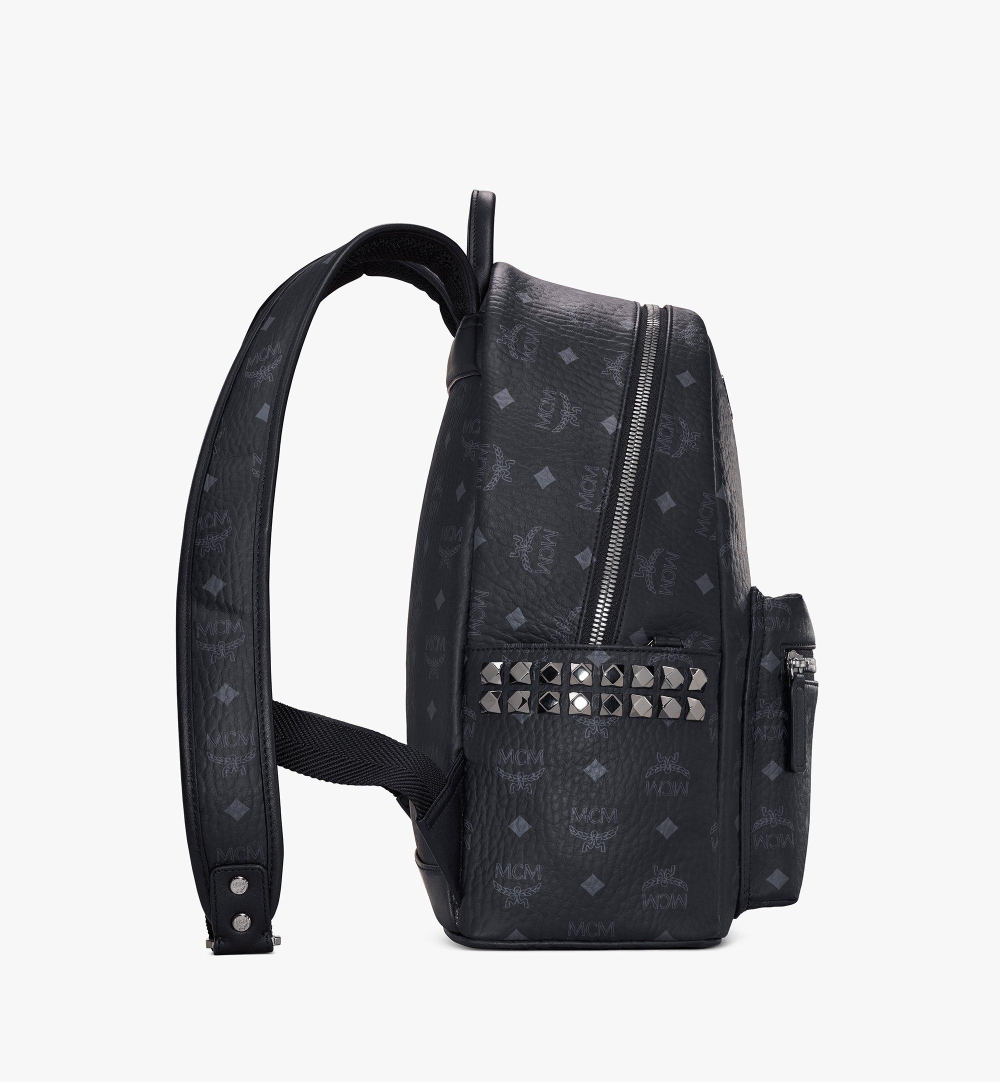37 cm 14.5 in Stark Side Studs Rucksack in Visetos Black