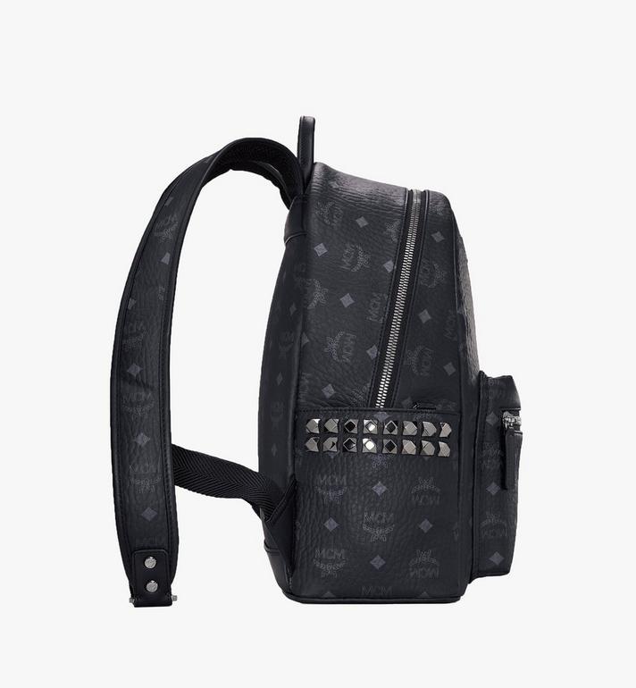 MCM Stark Side Studs Backpack in Visetos MMK7AVE99BK001 AlternateView2