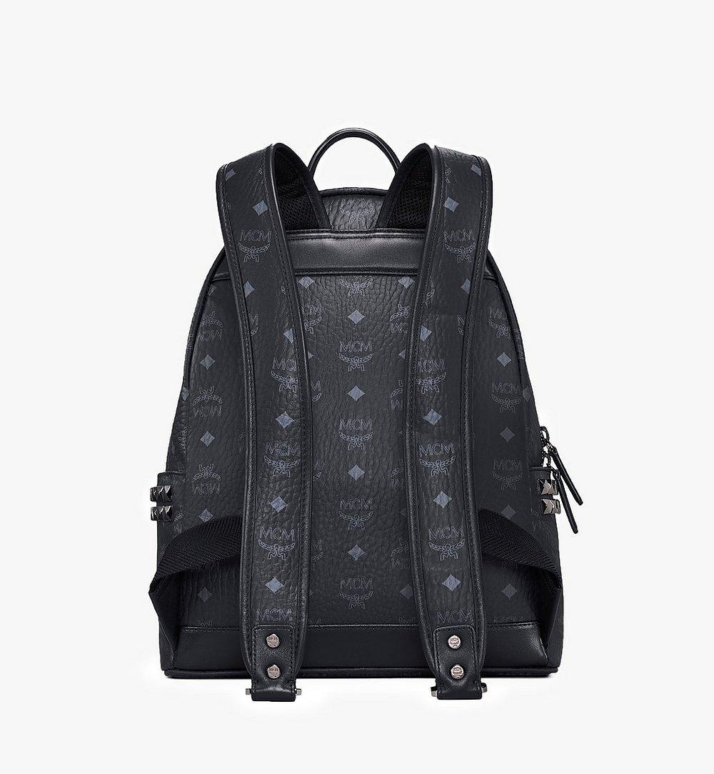 MCM Stark Side Studs Backpack in Visetos Black MMK7AVE99BK001 Alternate View 3