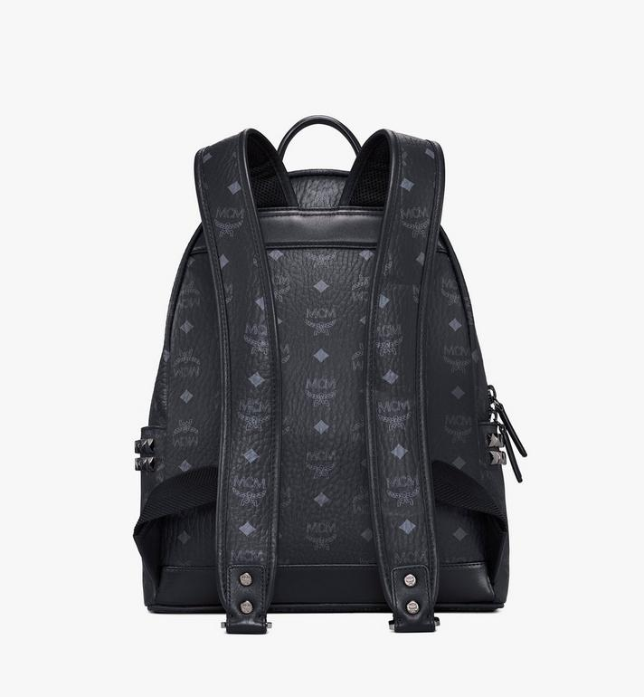 MCM Stark Side Studs Rucksack in Visetos Black MMK7AVE99BK001 Alternate View 4