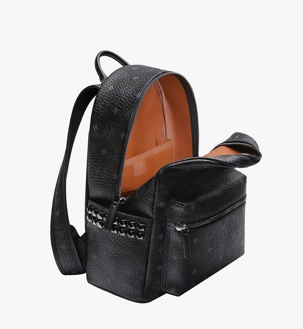 MCM Stark Side Studs Backpack in Visetos Black MMK7AVE99BK001 Alternate View 4