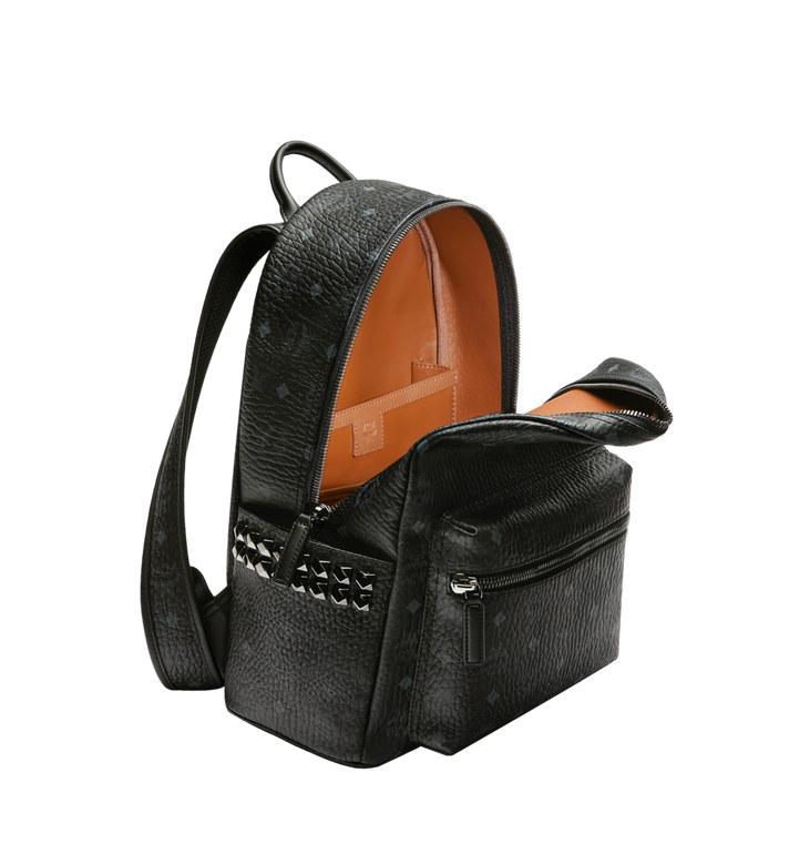 MCM Stark Side Studs Backpack in Visetos Black MMK7AVE99BK001 Alternate View 5