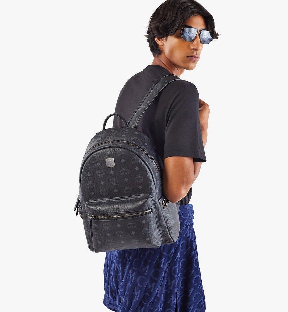 MCM Stark Side Studs Backpack in Visetos Black MMK7AVE99BK001 Alternate View 2