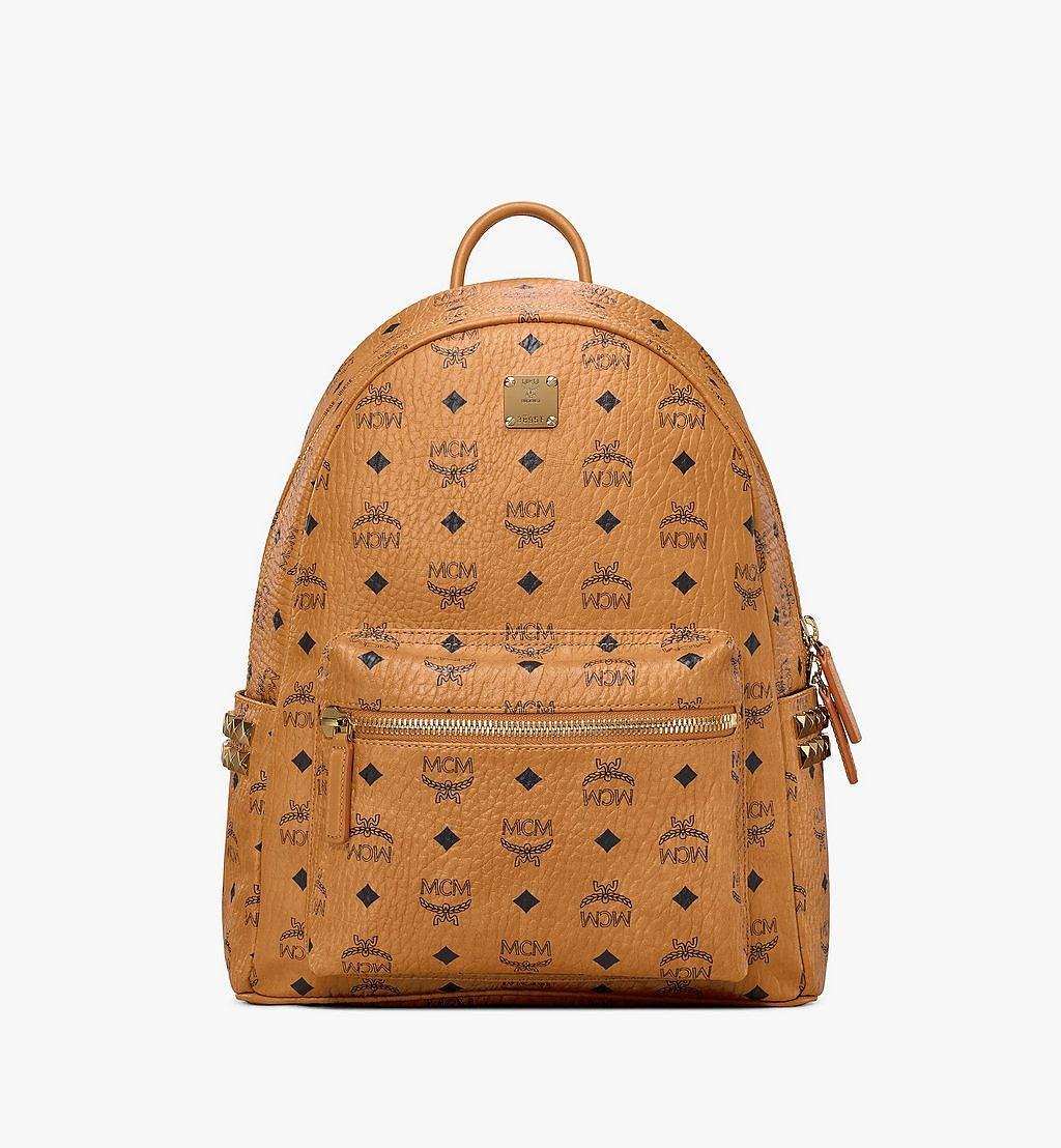 MCM Stark Side Studs Backpack in Visetos Cognac MMK7AVE99CO001 Alternate View 1