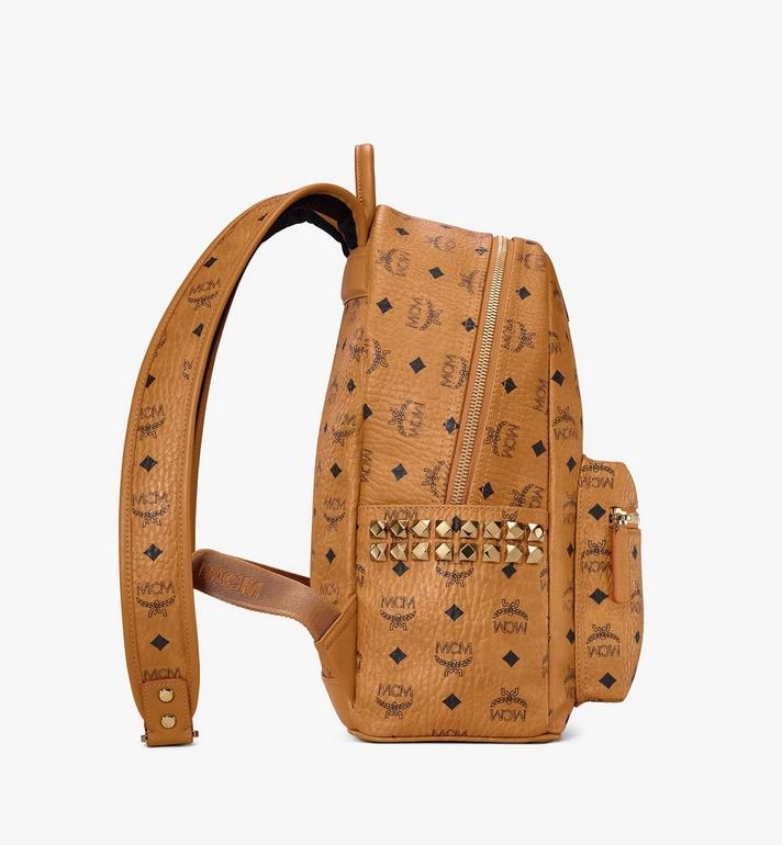 MCM Stark Side Studs Rucksack in Visetos Cognac MMK7AVE99CO001 Alternate View 2