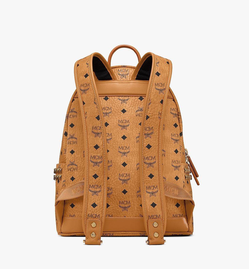 MCM Stark Side Studs Backpack in Visetos Cognac MMK7AVE99CO001 Alternate View 3
