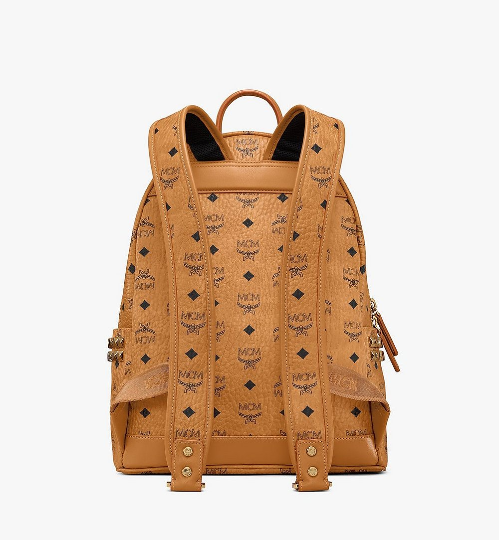 MCM Stark Side Studs Backpack in Visetos Cognac MMK7AVE99CO001 Alternate View 3