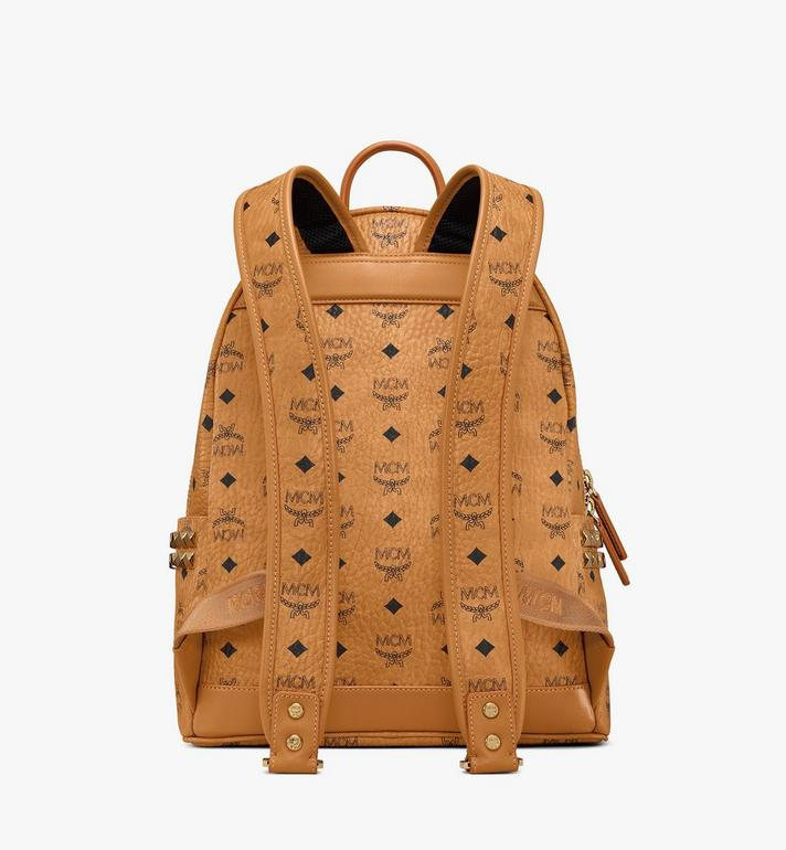 MCM Stark Side Studs Rucksack in Visetos Cognac MMK7AVE99CO001 Alternate View 4
