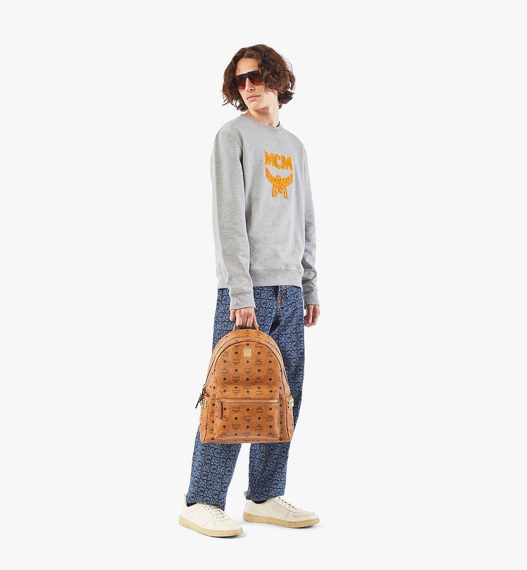 MCM Stark Side Studs Backpack in Visetos Cognac MMK7AVE99CO001 Alternate View 5