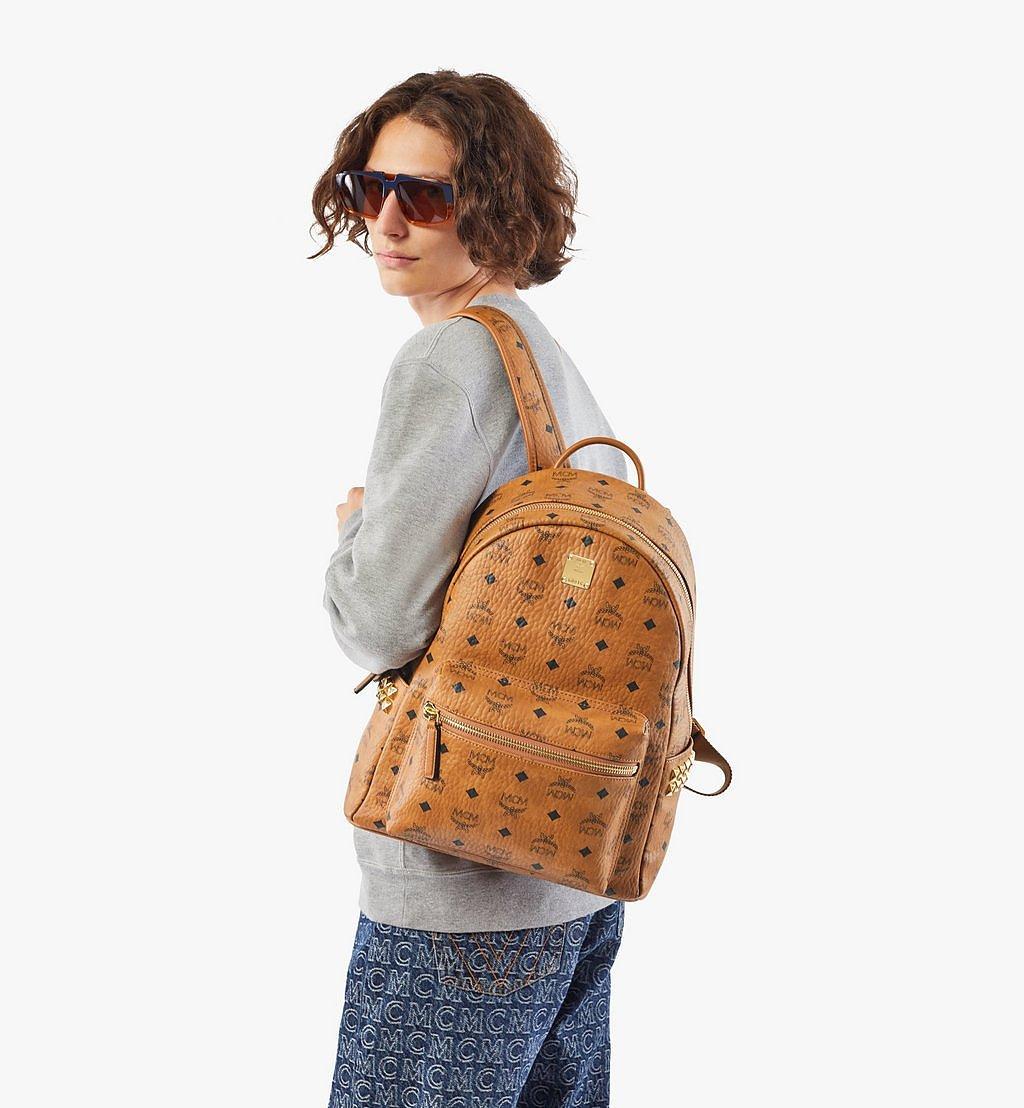 MCM Stark Side Studs Backpack in Visetos Cognac MMK7AVE99CO001 Alternate View 2