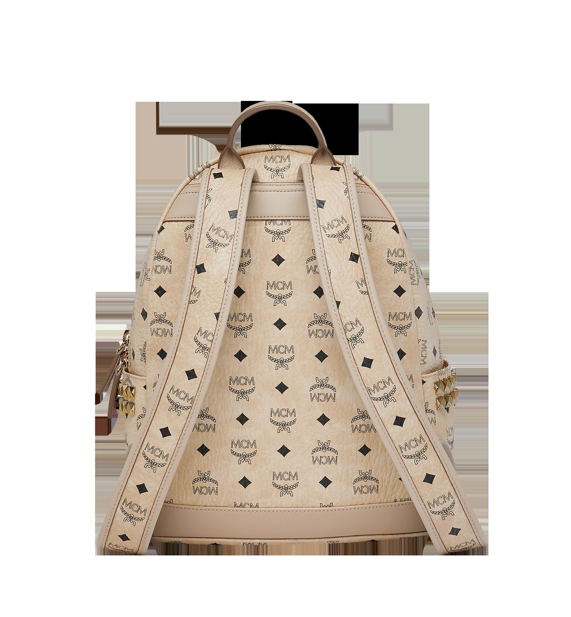 MCM Stark Side Studs Backpack in Visetos Beige MMK7AVE99IG001 Alternate View 3