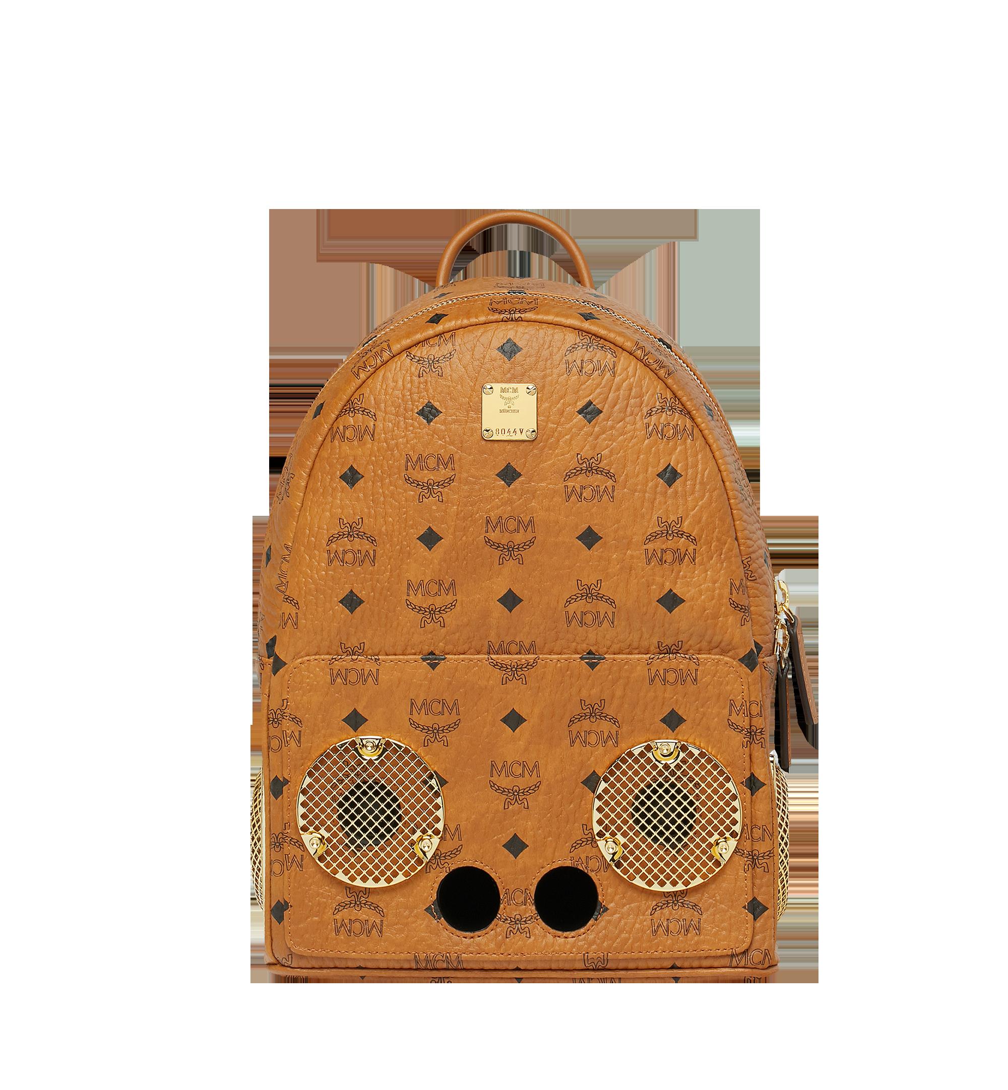 MCM MCM x WizPak Backpack in Visetos Cognac MMK8AOC85CO001 Alternate View 1