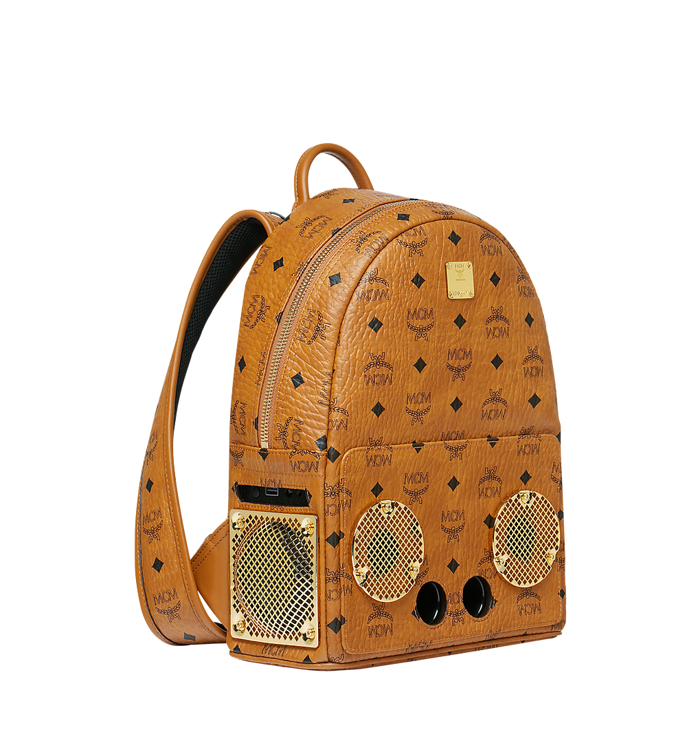 MCM MCM x WizPak Backpack in Visetos Cognac MMK8AOC85CO001 Alternate View 1
