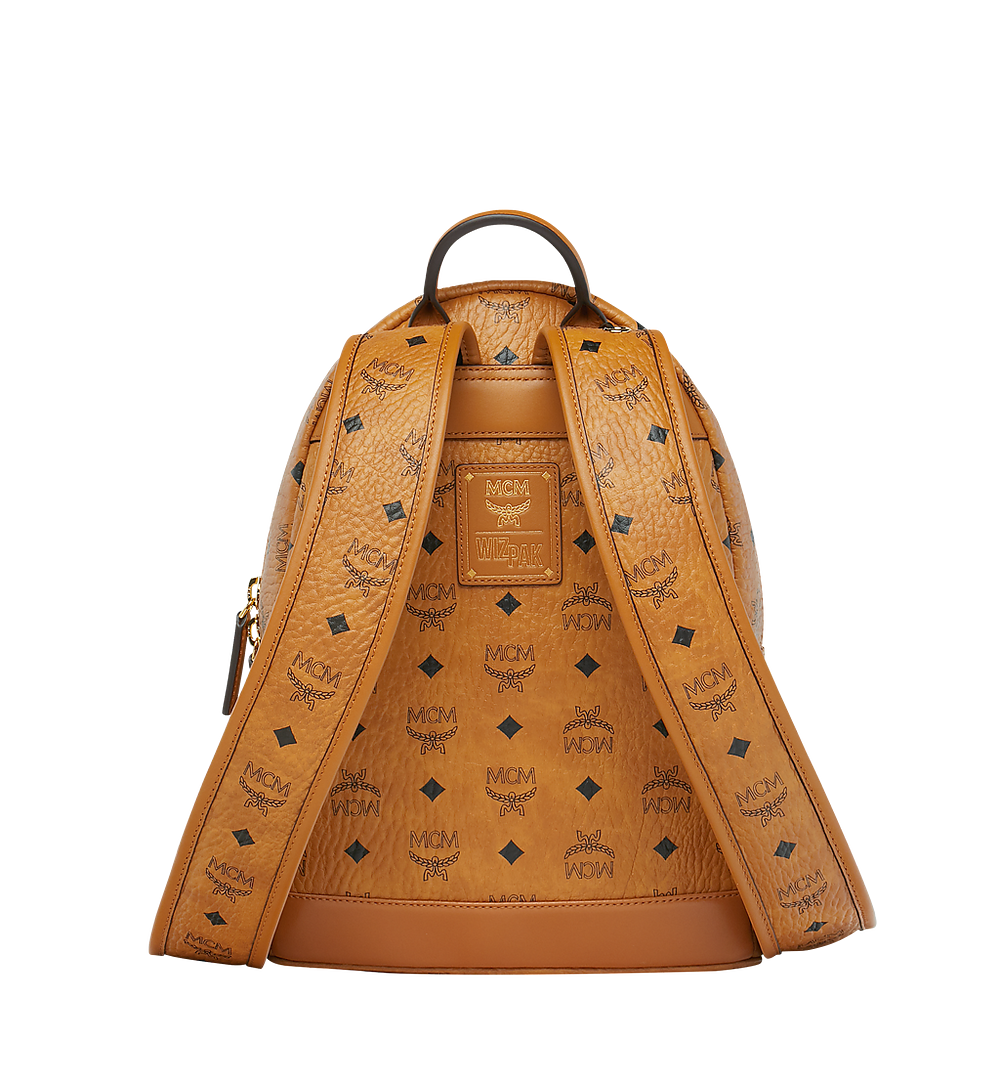 MCM MCM x WizPak Backpack in Visetos Cognac MMK8AOC85CO001 Alternate View 3