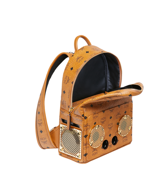 MCM MCM x WizPak Backpack in Visetos Cognac MMK8AOC85CO001 Alternate View 5