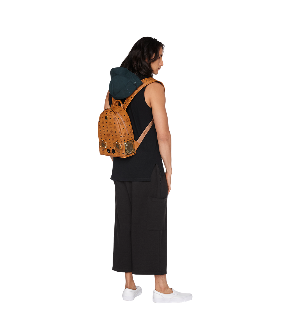 MCM MCM x WizPak Backpack in Visetos Cognac MMK8AOC85CO001 Alternate View 2