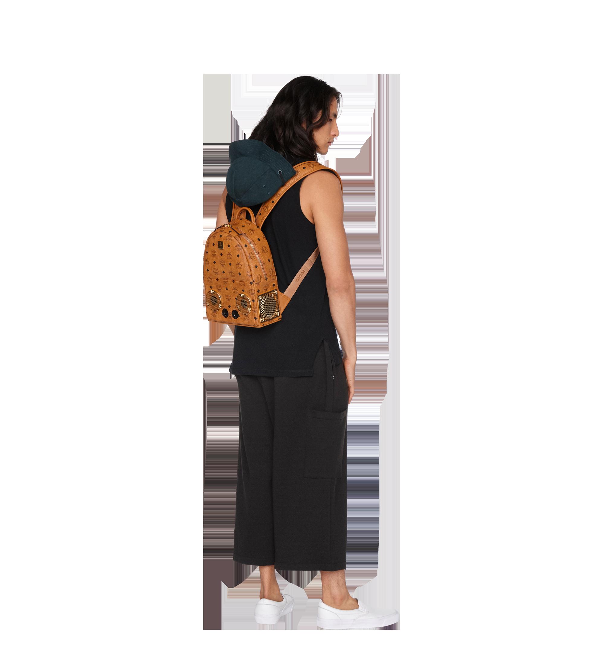 MCM MCM x WizPak Backpack in Visetos Cognac MMK8AOC85CO001 Alternate View 6