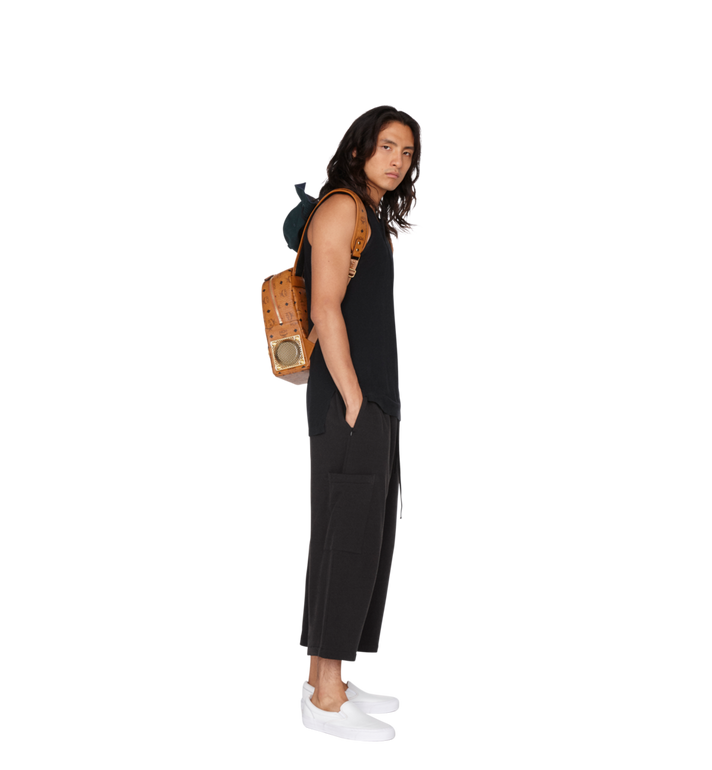 MCM MCM x WizPak Backpack in Visetos Cognac MMK8AOC85CO001 Alternate View 7