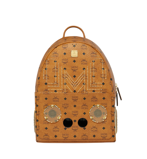 MCM x WizPak Studded Backpack in Visetos