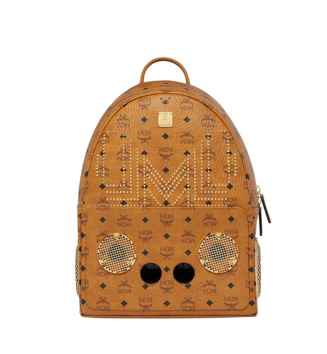 MCM MCM x WizPak Studded Backpack in Visetos Alternate View