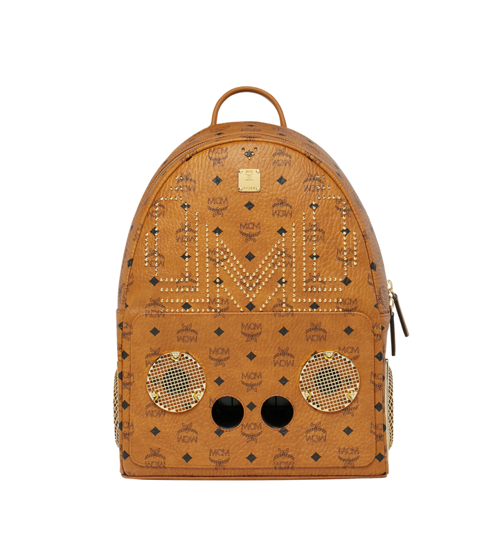 MCM MCM x WizPak Studded Backpack in Visetos MMK8AOC86CO001 AlternateView