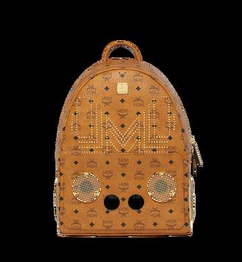MCM MCM x WizPak Studded Backpack in Visetos Alternate View