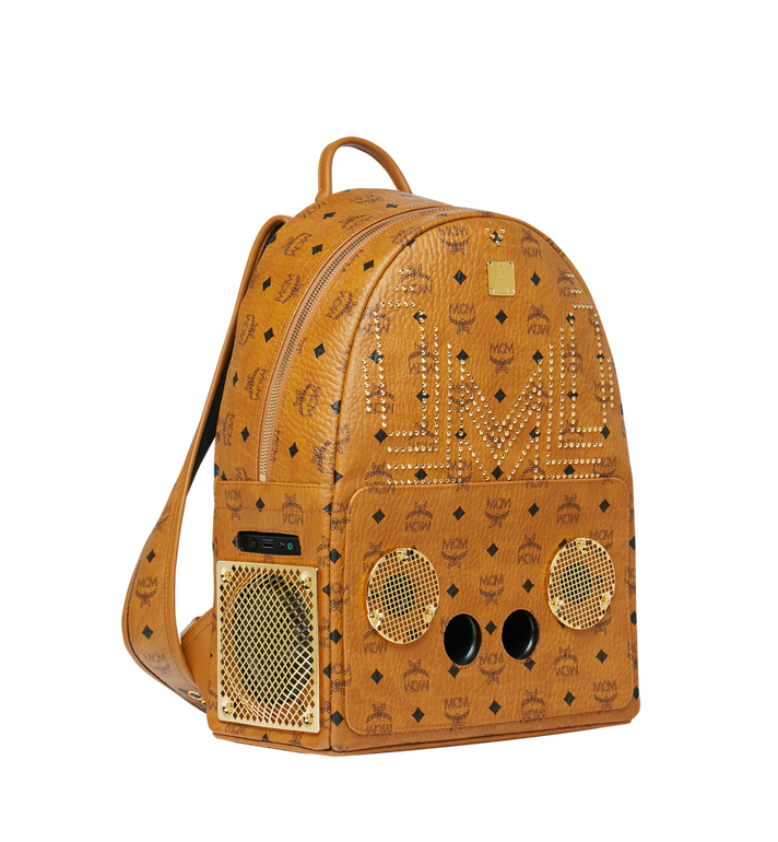 MCM MCM x WizPak Studded Backpack in Visetos MMK8AOC86CO001 AlternateView2
