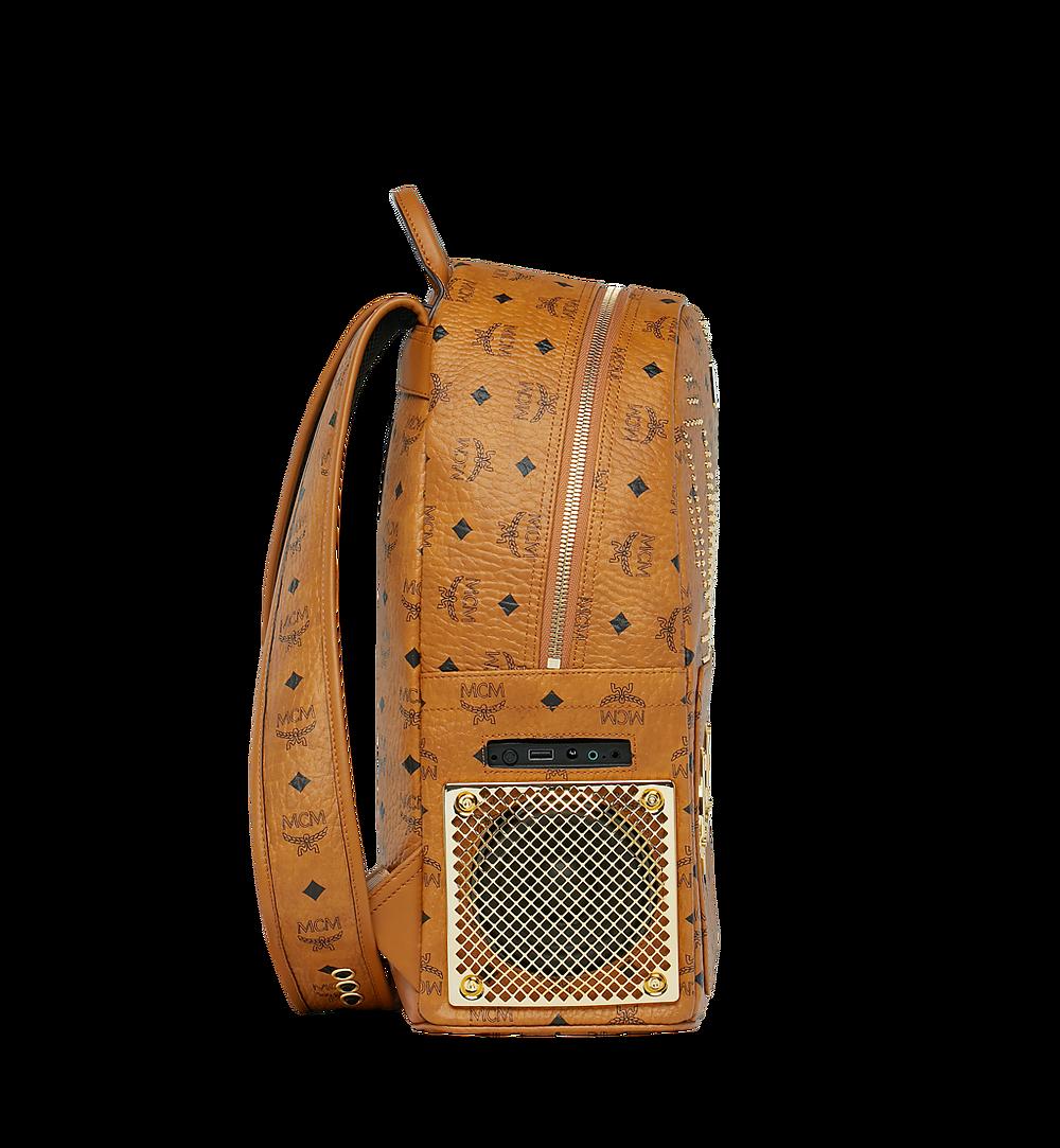 MCM MCM x WizPak Studded Backpack in Visetos Cognac MMK8AOC86CO001 Alternate View 2