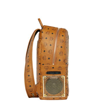 MCM MCM x WizPak Studded Backpack in Visetos Alternate View 3