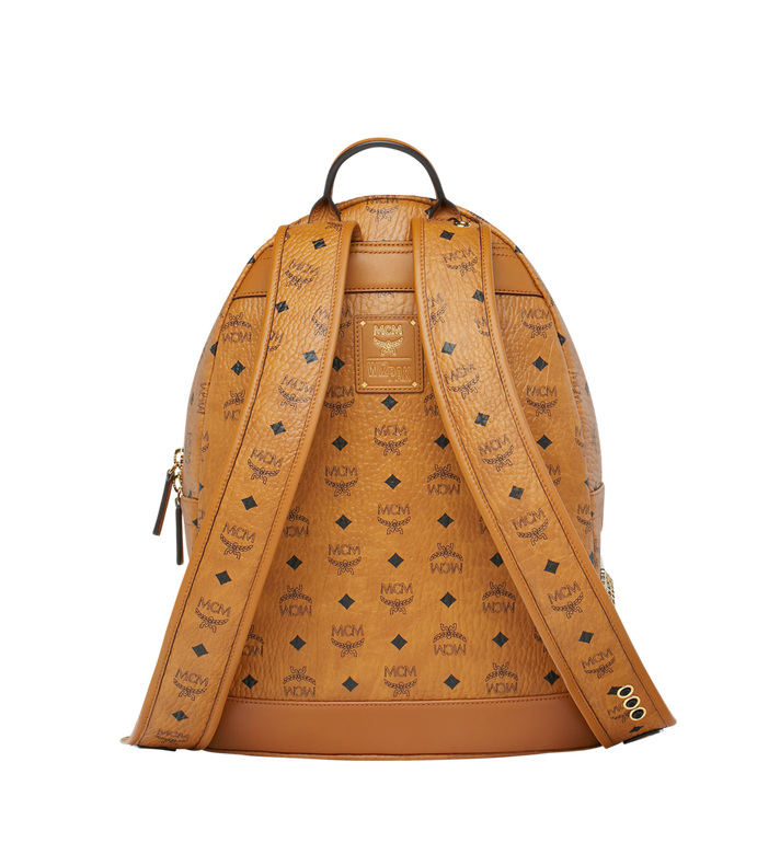 MCM MCM x WizPak Studded Backpack in Visetos Cognac MMK8AOC86CO001 Alternate View 4