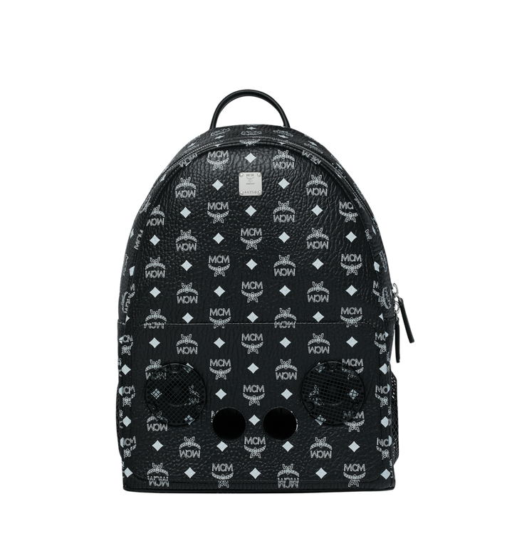 MCM MCM x WizPak Backpack in White Logo Visetos MMK8AOC87BV001 AlternateView