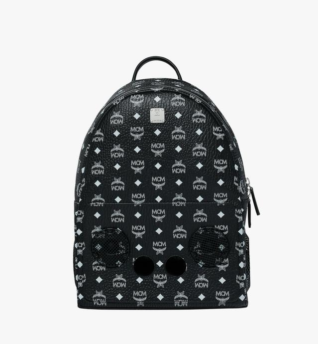MCM x WizPak Backpack in White Logo Visetos