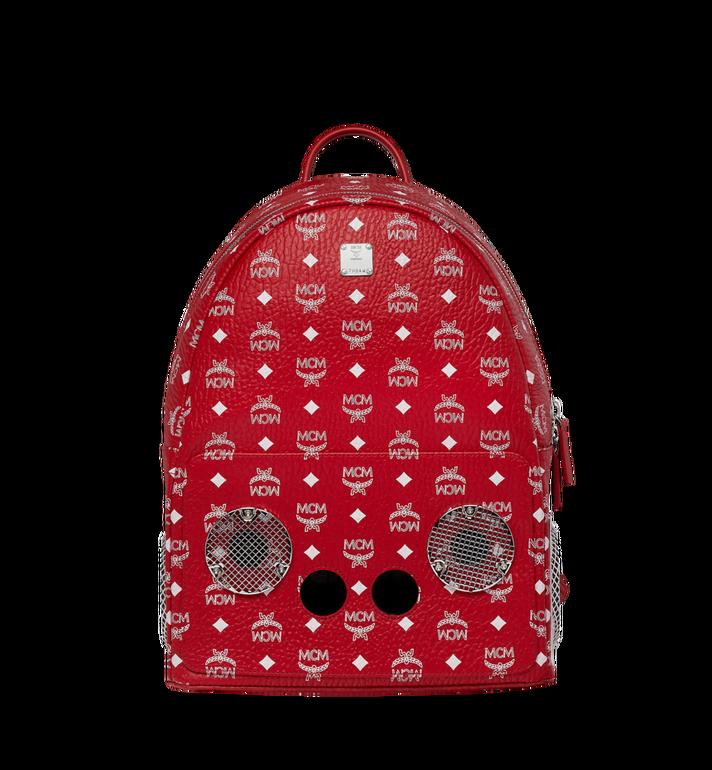 MCM MCM x WizPak Backpack in White Logo Visetos MMK8AOC87RV001 AlternateView
