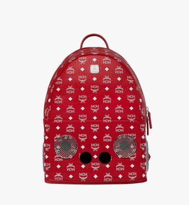 MCM x WizPak Backpack in White Logo Visetos