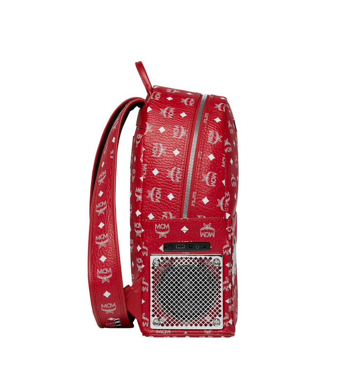 MCM MCM x WizPak Backpack in White Logo Visetos Red MMK8AOC87RV001 Alternate View 3