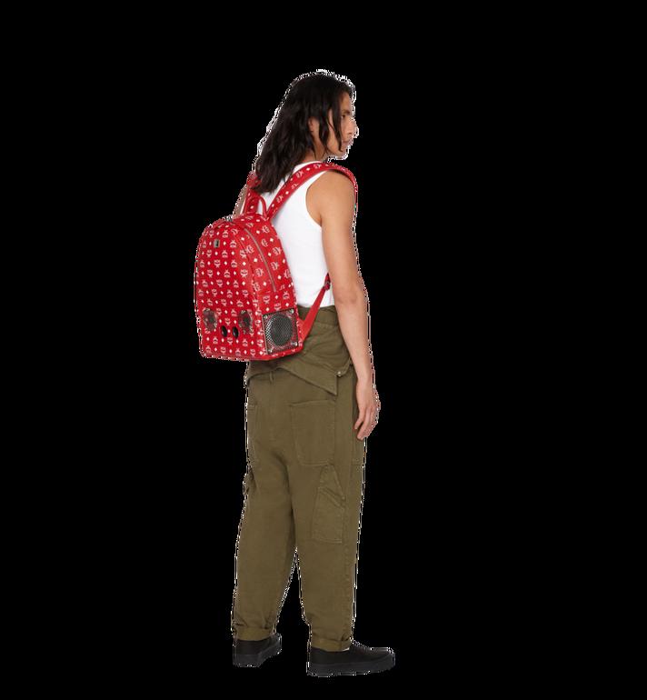 MCM MCM x WizPak Backpack in White Logo Visetos MMK8AOC87RV001 AlternateView6