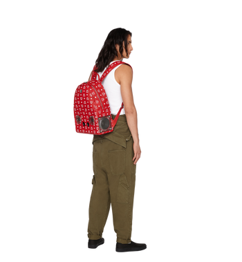 MCM MCM x WizPak Backpack in White Logo Visetos Alternate View 6