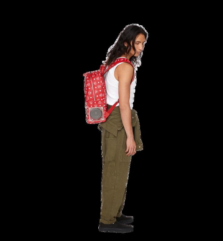 MCM MCM x WizPak Backpack in White Logo Visetos Red MMK8AOC87RV001 Alternate View 7