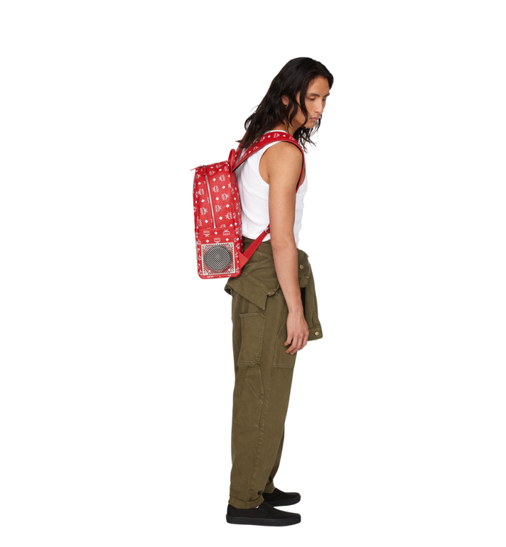 MCM MCM x WizPak Backpack in White Logo Visetos MMK8AOC87RV001 AlternateView7