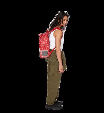 MCM MCM x WizPak Backpack in White Logo Visetos Alternate View 7
