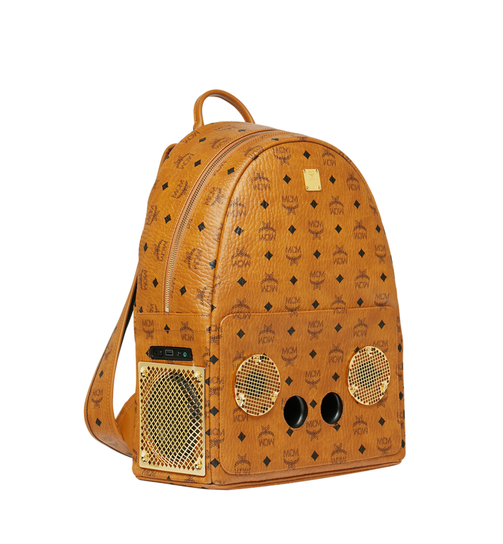 MCM MCM x WizPak Backpack in Visetos Cognac MMK8AOC88CO001 Alternate View 2